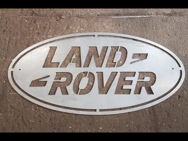 LARGE 4FT METAL LAND ROVER SIGN